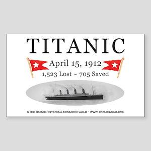 Titanic Ghost Ship (white) Sticker (Rectangle)