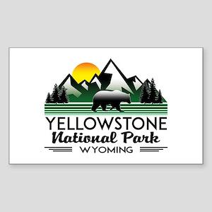 YELLOWSTONE NATIONAL PARK WYOMING MOUNTAIN Sticker