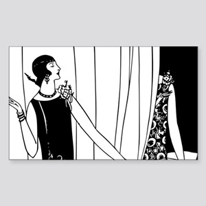 1920s vintage flappers black white drawing Sticker