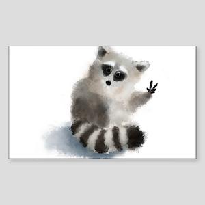 Raccoon says hello! Sticker