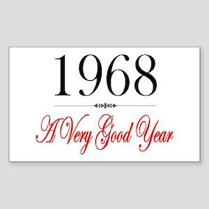 1968 Rectangle Sticker