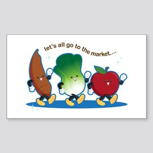 Let's Go to the Market! Sticker (Rectangle)
