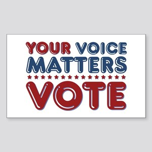 Your Voice Matters Sticker (Rectangle)