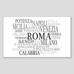 Italian Cities Sticker (Rectangle)