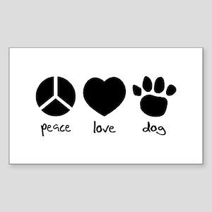 COOL DOG Rectangle Sticker