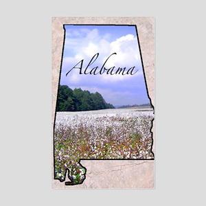 AlabamaMap8 Sticker (Rectangle)