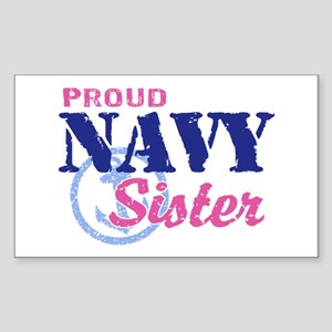 Proud Navy Sister Sticker (Rectangle)