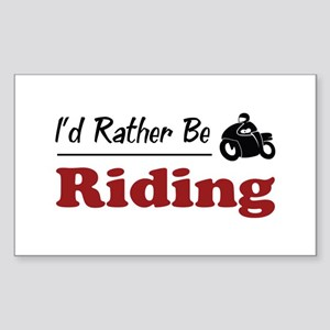 Rather Be Riding Rectangle Sticker