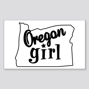 Oregon Girl Rectangle Sticker