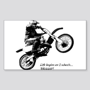 Dirtbike Sticker (Rectangle)