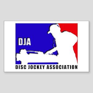 Disc jockey association Rectangle Sticker