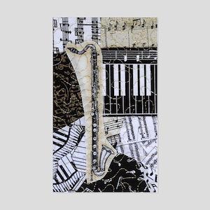 bass-clarinet-ornament Sticker (Rectangle)