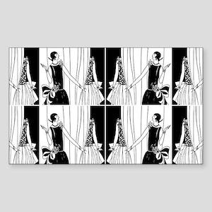 1920s flapper 2 Sticker