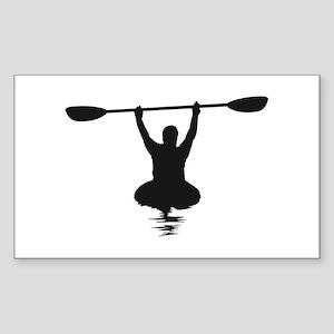 Kayaking Sticker (Rectangle)