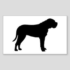 Bullmastiff Dog Breed Rectangle Sticker