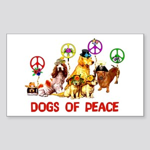 Dogs Of Peace Rectangle Sticker