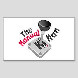 Manual Man Sticker