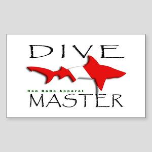 Dive Master Rectangle Sticker