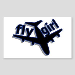 Fly Girl Rectangle Sticker