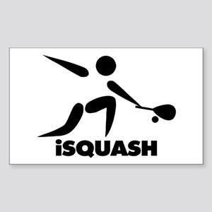 Game Of Squash iSquash Logo Sticker (Rectangle)