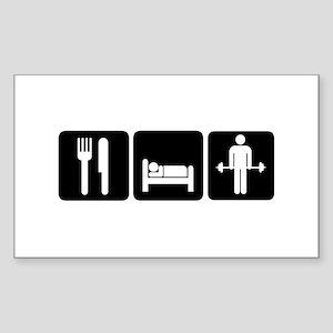 Man Eat Sleep Lift Weights Sticker (Rectangle)