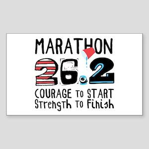 Marathon Courage Sticker