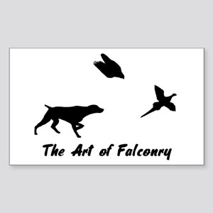 GSP and Falconry Rectangle Sticker