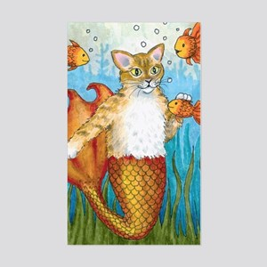 Cat Mermaid 27 Sticker (Rectangle)