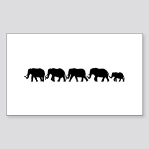 ELEPHANT LINE Rectangle Sticker