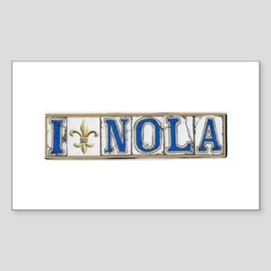 Love NOLA Rectangle Sticker