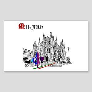 Milano Milan Italy Sticker (Rectangle)