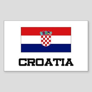 Croatia Flag Rectangle Sticker