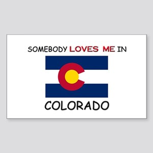 Somebody Loves Me In COLORADO Rectangle Sticker