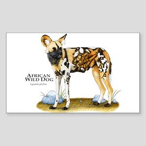 African Wild Dog Rectangle Sticker