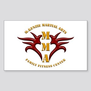 MMA Logo 2 - Gold Red - Sticker (Rectangle)