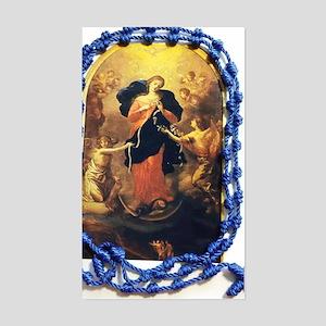 Mary Undoer of Knots Sticker (Rectangle)