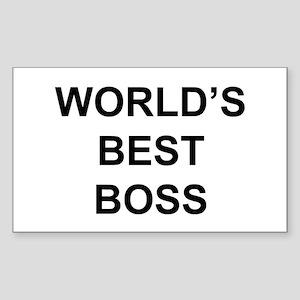 """""""World's Best Boss"""" Rectangle Sticker"""