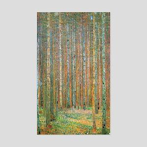 Gustav Klimt Pine Forest Sticker (Rectangle)
