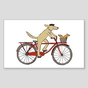 Dog & Squirrel Sticker (Rectangle)