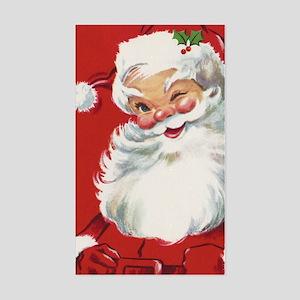 Vintage Christmas Jolly Santa Sticker (Rectangle)