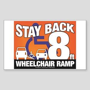 Stay Back Wheelchair Ramp (8ft) Sticker