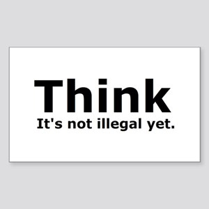 Think it's not illegal yet. Rectangle Sticker