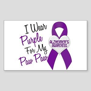 I Wear Purple 18 Alzheimers Sticker (Rectangle)