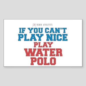Water Polo Slogan Rectangle Sticker