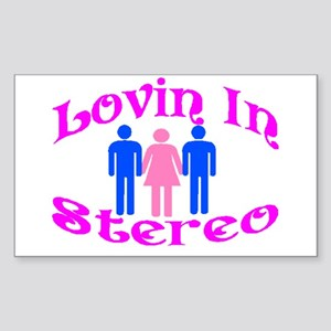 Woman Stereo Rectangle Sticker