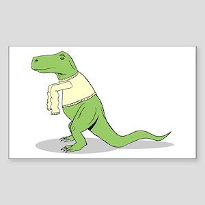T.Rex Hates Sweaters Sticker