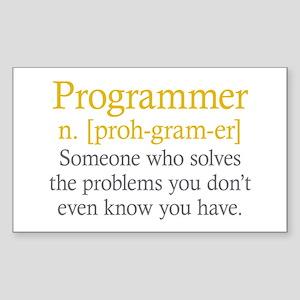 Programmer Definition Sticker