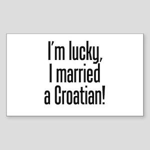 Married a Croatian Rectangle Sticker
