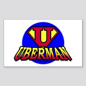 UberMan Rectangle Sticker