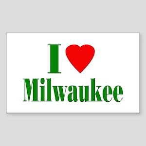 I Love Milwaukee Rectangle Sticker